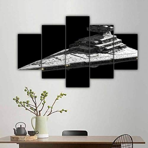 QMCVCDD Canvas Print 5 Piece Wall Art Painting Premium Quality Picture Hd Print Home Wall Hanging Art Prints 5 Pieces Canvas Wall Art Imperial I Class Star Destroyer