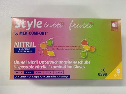 Nitril-Einmalhandschuhe Style Tuttifrutti, Größe S, Farbmix, 96 Einzelhandschuhe in Spenderbox