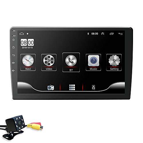 10.1 Inch Double Din Android 10 Car Navigation Radio Unit Supports Mirror-Link Radio FM WiFi 4G OBD2 TPMS GPS DVR Video Bluetooth + Free Camera
