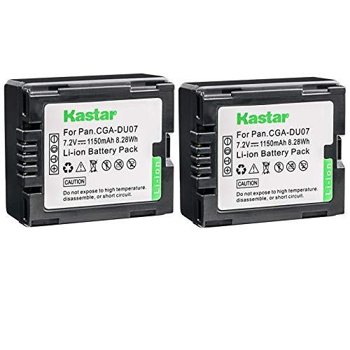Kastar 2 Pack Battery for Panasonic CGR-DU06 CGR-DU07 CGA-DU14 CGA-DU07 CGA-DU06 CGR-DU21 CGR-DU21A RV-4401 RV-5401 Camcorder