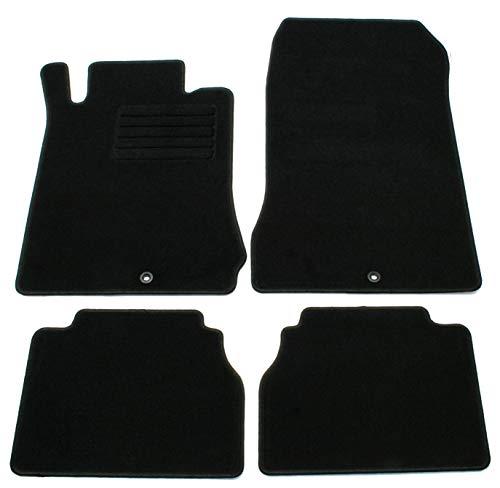 AD Tuning GmbH HG2256 Velours Passform Fußmatten Set Schwarz Autoteppiche Teppiche Carpet Floor mats