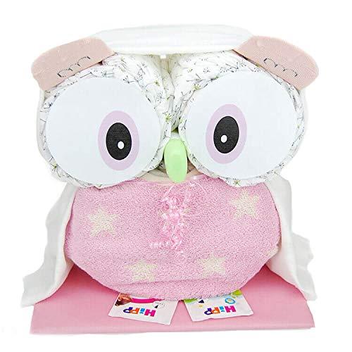 Windeltorte.com - Windeltorte für Mädchen | Rosa Windeleule - inkl. 28 LILLYDOO Windeln | Geschenk zur Geburt | Taufgeschenk | Geschenk zur Babyparty - Premium Windeltorte