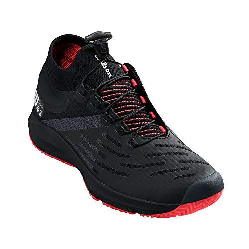 Wilson Footwear Damen Tennisschuh, Schwarz/Weiß/Fiery Coral, 40 EU