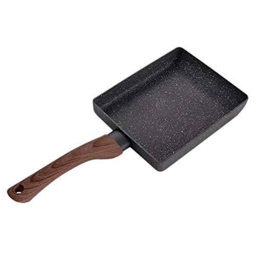 Hemoton Antihaft-Eisen-Grillpfanne Küche Eisenpfanne Grillpfanne Pfanne Steakpfanne Seitenauslauf für Elektroherd Induktionsgas