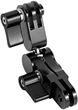 RONSHIN 360 Degree Rotation Mounts Adapters Helmet Adapters Mounts for Gopro DJI Osmo Action XIAOMI EKEN Action Camera black