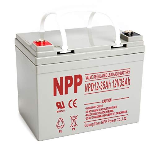 NPP NP12-35Ah 12V 35Ah 12Volt Rechargeable Deep Cycle Sealed Lead Acid Battery Replace 12 Volt 33AH 34AH 36AH in Series 24V 36V 48V Wheelchair,PV Solar Panels Bat-Caddy X3R Golf Caddy