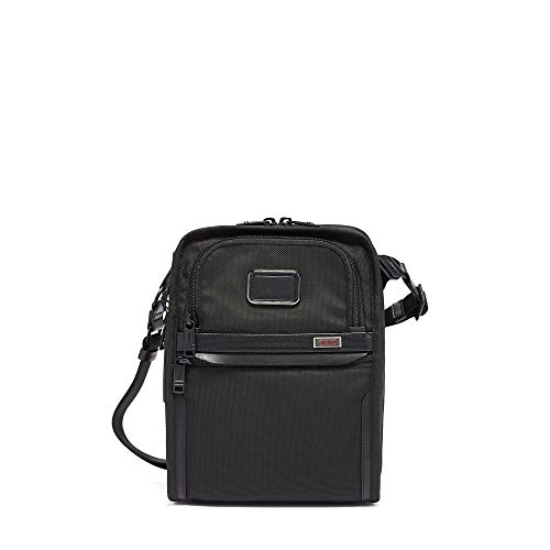 TUMI - Alpha 3 Organizer Travel Tote - Satchel Crossbody Bag for Men and Women - Black