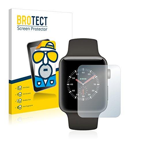 BROTECT 2X Entspiegelungs-Schutzfolie kompatibel mit Apple Watch Edition Series 3 (42 mm) Bildschirmschutz-Folie Matt, Anti-Reflex, Anti-Fingerprint