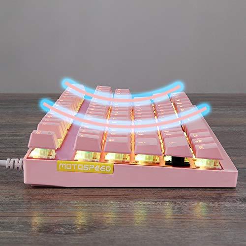Clavier De Gaming Et Souris, LED Rétro-éclairage Arc en Ciel Luminosités De Couleurs Clavier Filaire USB Gamer Et Souris ,Pink2