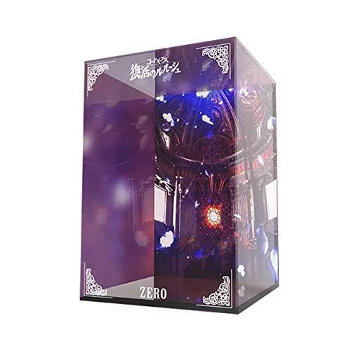 Manual MH GEM resucitado Lelouch Modelo Cero marco de la exhibición Caja de luz LED de PVC dibujo Modelo GK Display Box cubierta antipolvo 23 * 23 * 30 cm altura