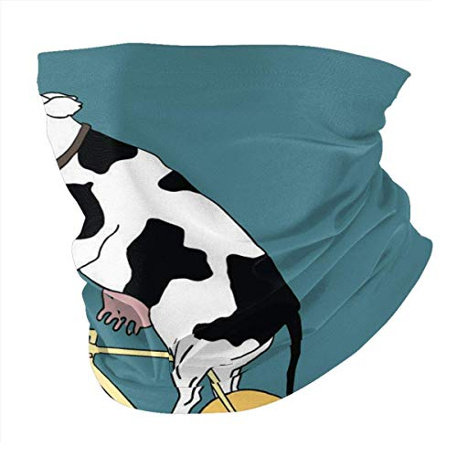 Cow On Cheese Bike Neck Headwear Scarf Bandanas Balaclava
