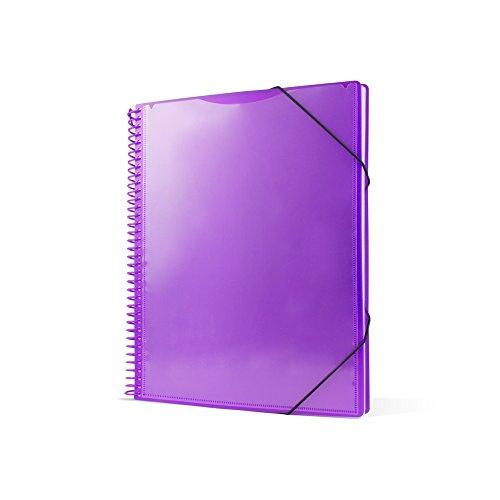 Pryse 4240066 - Carpeta espiral con 60 fundas, A4, color lila