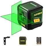 Niveau Laser Vert, POPOMAN 30M Ligne Laser Autonivelant pour Finition Intérieure et ameublement, Support Magnétique, Grand Angle 120°, 360° Pivotant