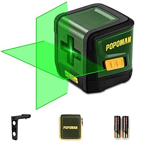 Niveau Laser Vert, POPOMAN 30M Ligne Laser Autonivelant pour Finition Intérieure et ameublement,...