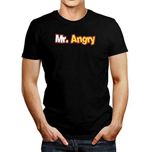 Idakoos Mr Angry Moved Font T-Shirt L Black