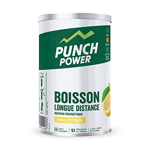 PUNCH POWER - Boisson Longue Distance - Citron - Pot 500 g - Energie Longue Durée - Glucides - BCAA - Vitamines - Electrolytes - Antioxydant - Marque Française
