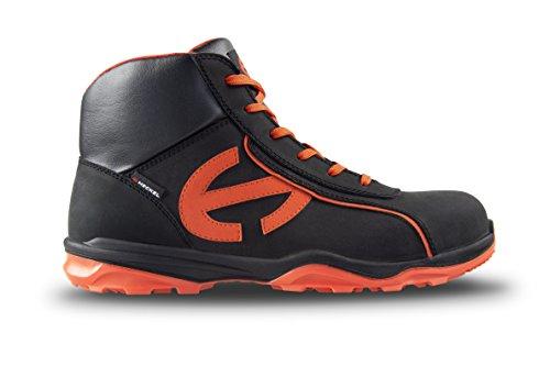 Heckel Run-r 300 High s3 SRC Schuhe, Schwarz/Orange, 40 EU