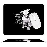 ピットブルと女の子の犬 デスクマッ ト マウスマット ゲーミングマウスパッド キーボードマット PC机 マット超大型 防水 滑り止め レーザー 光学式マウス ゴムファッ 20.5×25.5cm