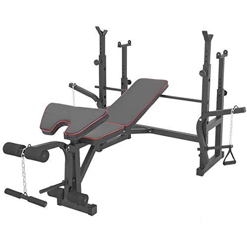 Weightlifting Bench FFitness | Panca Multifunzione Palestra Pettorali Pieghevole Regolabile Multistazione | Barbell Bed Squat Rack