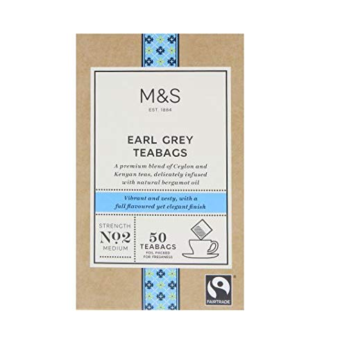 Marks & Spencer Earl Grey Teabags 50 Bags (From the UK) by Marks & Spencer