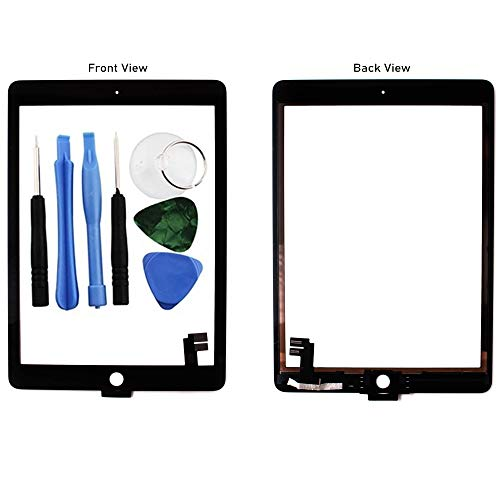 BisLinks Compatible with iPad Air 2 Touch Screen Digitizer Glass Black 6 Gen A1566 A1567 + Tools