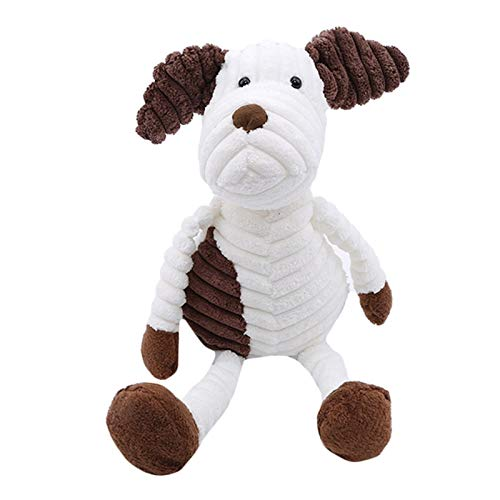 Stuffed Animals Cute Animal Shaped Plush Toys Creative Stuffed Doll for Kids Striped Soft Toys Home Table Decoration Fashion Car Ornaments-Dog