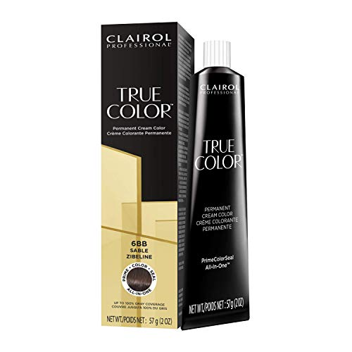Clairol Professional TRUE COLOR Permanent Cream Color 6BB Sable
