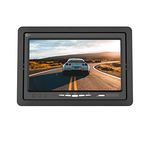 Esky Backup Camera Monitor 7 Inch Rearview Reversing TFT LCD Color Display DVD VCR Monitor Screen, Two Video Input Plug V1/V2 Car Cameras,Parking Monitor Assistant with Wireless Remote Control & Stand backup Cameras Electronics Features Vehicle