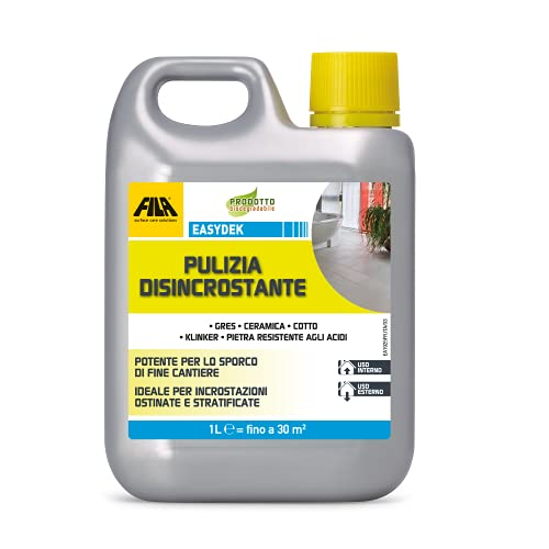 FILA Surface Care Solutions Detergente Acido Tamponato disincrostante, Incolore, 1 Litro, 1000 unità