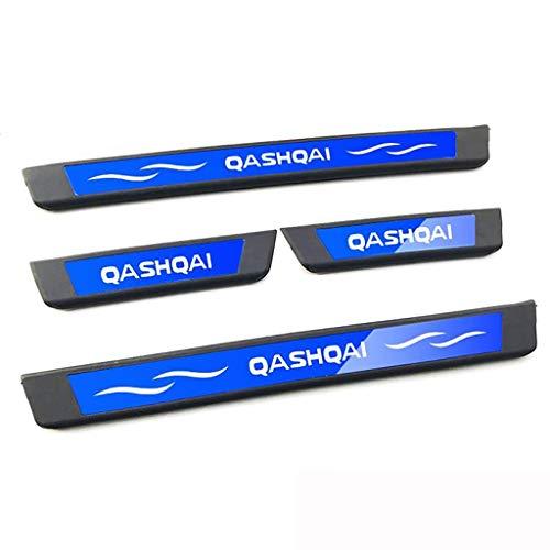 4 Piezas Para Nissan QASHQAI 2015-2018 Acero Inoxidable Coche Barra Puerta Umbral, Bienvenida Estilo Pedal Protección Pegatina Decorativos Accesorios