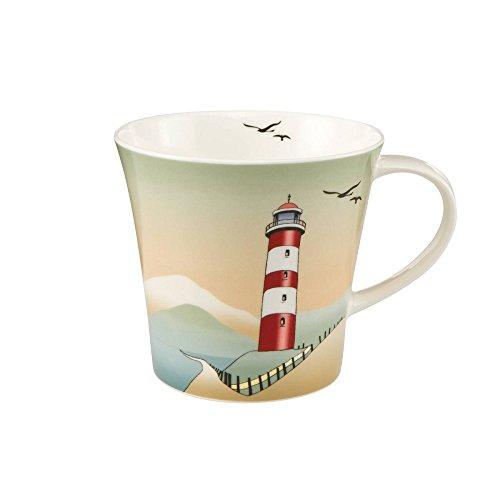 Goebel Becher, Tasse Scandic Home Lighthouses Leuchturm H. 9,5cm 350ml Porzellan