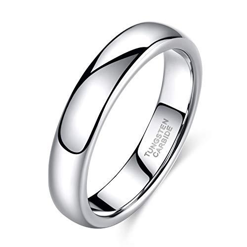 Shuremaster 2mm 4mm 6mm 8mm Tungsten Wedding Band Ring Men Women Plain Dome High Polished Comfort Fit