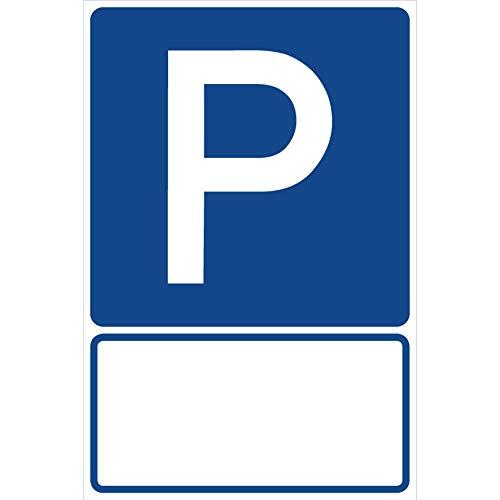 Schild Parkplatz Parken mit Freifeld...