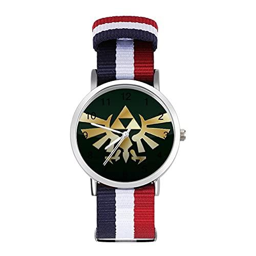 Anime The Legend of ZeldaBraided Band Reloj con escala de moda ajustable para negocios, banda de impresión a color, adecuado tanto para hombres como para mujeres