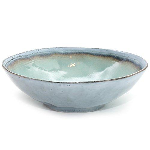 Exner Schale WAN Steingut Türkis Blau Schüssel Salatschüssel Obstschale Servierschale Keramikschale Skandinvisches Design 30,5 cm