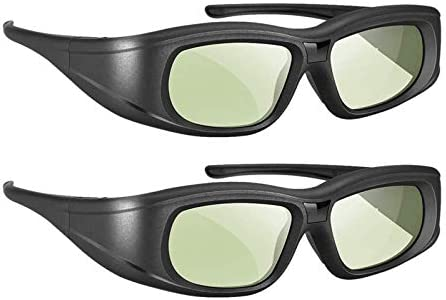Elikliv 3D Glasses Active Shutter Rechargeable 3D Eyewear Compatible with Epson Sony LCD Projector product image