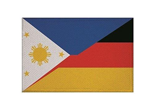 U24 Aufnäher Philippinen-Deutschland Fahne Flagge Aufbügler Patch 9 x 6 cm