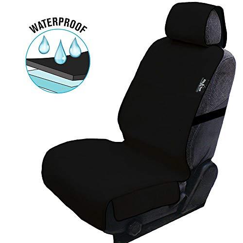 Big Ant Sitzbezüge Auto Vordersitze, 100% Wasserdicht Neoprene Autositzbezüge Universal Schonbezug Sitzauflagen Auto für Alle Autositze, Hund, Athleten Training (Schwarz-1 Stück)