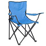 Arcoiris Silla de Camping, 4 Unidades, Silla de Acampada Plegable (Azul Claro, 4 Pack)