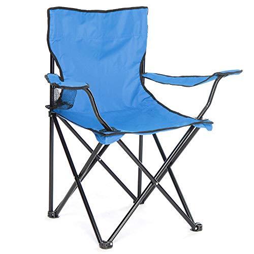 Arcoiris Silla de Camping, Silla de Acampada Plegable con 2 Unidades (Azul Claro 2pack)