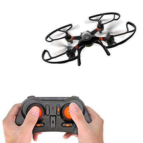 Mini RC Helicopter, Mould King Super-F Remote Control Quadcopter Drone 4CH 2.4GHz 6-Axis Mini Drone RTF with Headless Mode LED Flashing