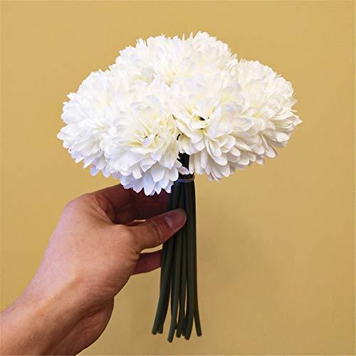 Seika Crisantemos artificiales para decoración de hojas y tallos de crisantemo