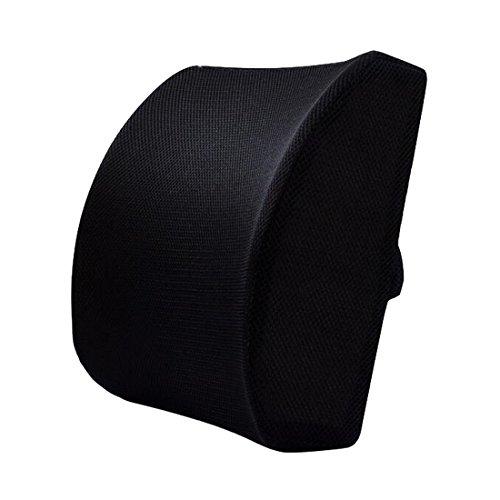 Lendenwirbelstütz-Kissen, geeignet für Büro-Stuhl, Rücken-Kissen  / Rückenstütz-Kissen Schwarz