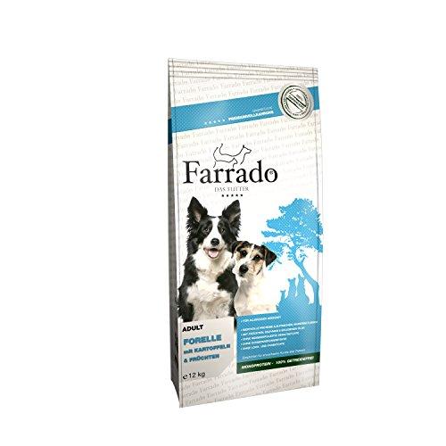 Farrado Hundefutter getreidefrei & glutenfrei – Trockenfutter mit Forelle für Ihren Hund (12kg)