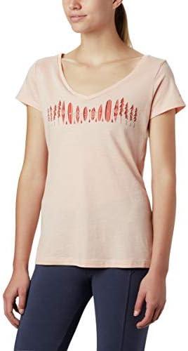 Cotton Blend Comfort Stretch Columbia Women/'s Hidden Lake V Neck Tee Shirt
