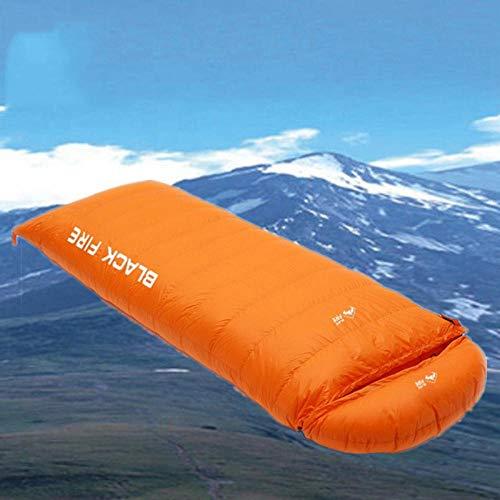 Dtcat Outdoor-Schlafsack für Bergsteiger,Umschlagschlafsack,ultraleichter Daunenschlafsack,Doppelschlafsack mit Spleißbarkeit @ Orange_1200 g,Ideal für Outdoor-Aktivitäten.
