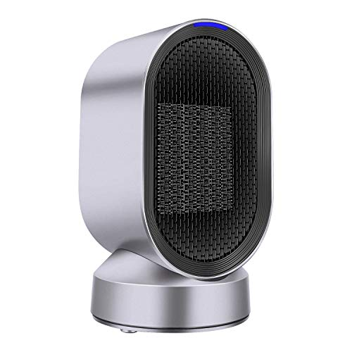TaoTens Portable Space Heater,600W PTC Ceramic Heater Auto Oscillation,UL Listed,Small Desktop Heating Fan with Overheat & Tip Over Protections for Office Indoor Home
