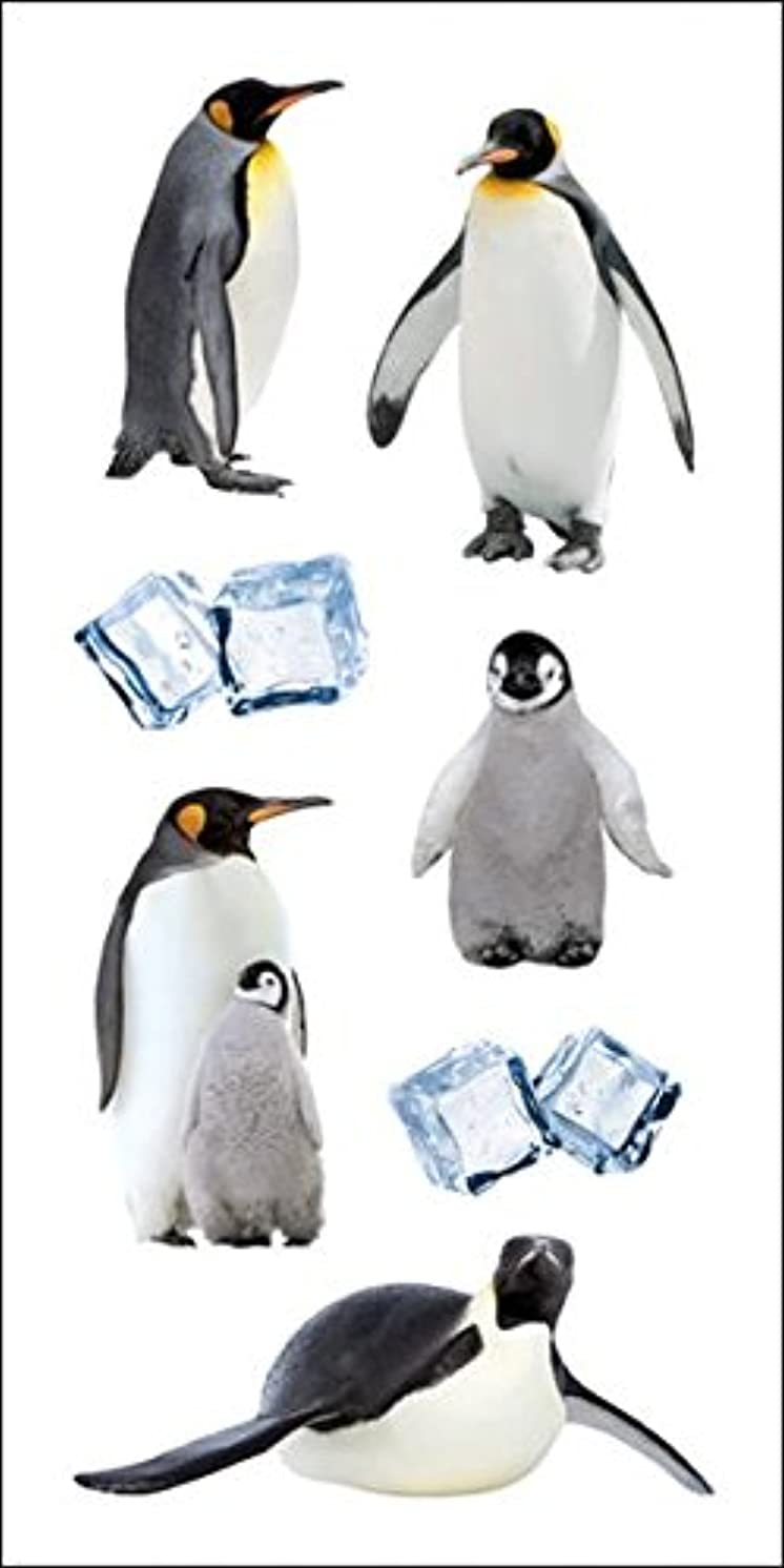 Paper House Productions ST-2241E Photo Real Stickypix Stickers, 2-Inch by 4-Inch, Penguins (6-Pack)