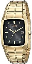 Citizen Eco-Drive Chandler Quartz Mens Watch, Stainless Steel, Weekender, Gold-Tone (Model: BM6552-52E)