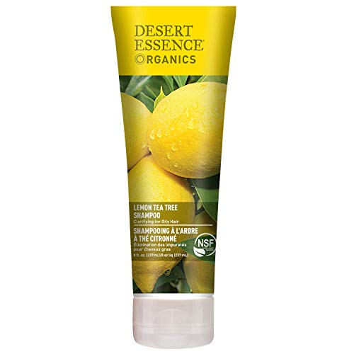 Desert Essence Lemon Tea Tree Shampoo - 8 Fl Ounce - Removes Excess Oil - Revitalizes Scalp - Strengthens & Protects Hair - Maca Root Extract - Soft, Smooth & More Manageable